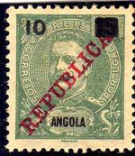 Angola 1912 D. Carlos I Overprinted and Surcharge c