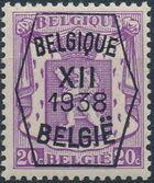 Belgium 1938 Coat of Arms - Precancel (12th Group) b