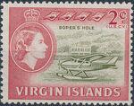 British Virgin Islands 1964 Queen Elizabeth II and Views b