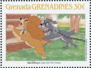 Grenada Grenadines 1988 The Disney Animal Stories in Postage Stamps 5h