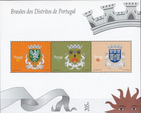 Portugal 1996 Arms of the Districts of Portugal (1st Group) SSa
