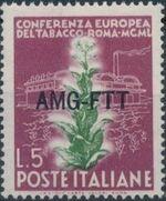 Trieste-Zone A 1950 European Tobacco Conference a