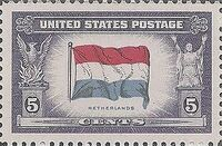 United States of America 1943 Overrun Countries Issue e