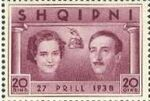 Albania 1938 Wedding of King Zog I j