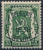 Belgium 1938 Coat of Arms - Precancel (6th Group) e