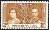British Guiana 1937 George VI Coronation a