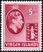 British Virgin Islands 1938 George VI and Seal of the Colony j