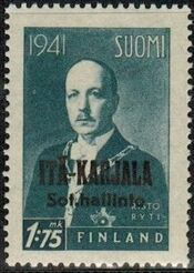 Eastern Karelia 1942 President Ryti Overprinted b