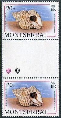 Montserrat 1988 Sea Shells gd