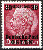 Poland-General Government 1939 Stamps from German Empire 1905 Surcharged and Overprinted g