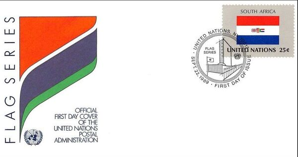 United Nations-New York 1989 Flag Series FDCe