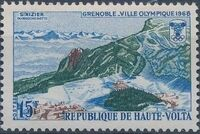 Upper Volta 1967 10th Winter Olympic Games, Grenoble a