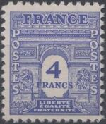 France 1944 Arc of the Triomphe - Allied Military Government h