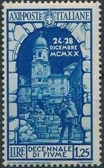 Italy 1934 10th Anniversary of Annexation of Fiume d
