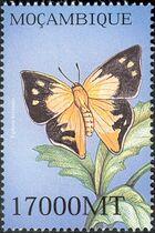 Mozambique 2002 Butterflies c