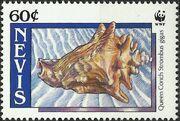 Nevis 1990 WWF Queen Conchs (Strombus gigas) c