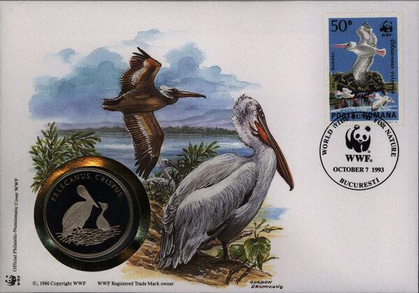 Romania 1984 WWF - Pelicans of the Danube Delta WWFPNCa