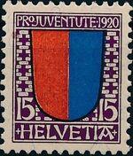 Switzerland 1920 PRO JUVENTUTE - Coat of Arms c