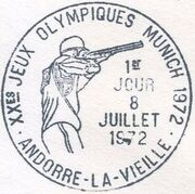 Andorra-French 1972 20th Olympic Games, Munich PSMa
