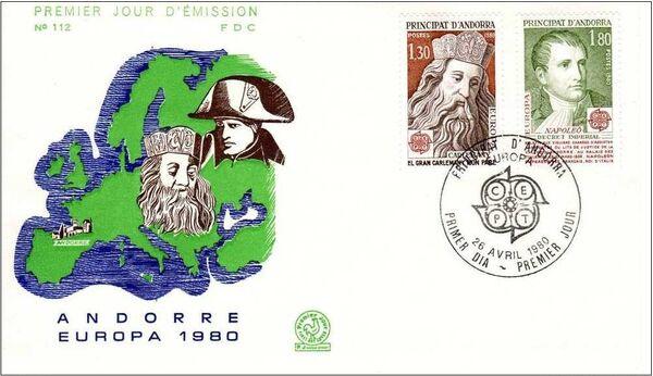 Andorra-French 1980 Europa FDCa