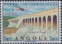 Angola 1965 Various Works and Airplane f