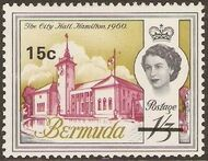 Bermuda 1970 Definitive Issue of 1962 Surcharged j