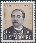 Luxembourg 1950 Jean Antoine Zinnen d