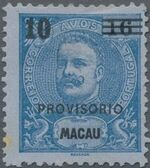Macao 1900 Carlos I of Portugal Surcharged in Black b