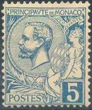 Monaco 1891 Prince Albert I c