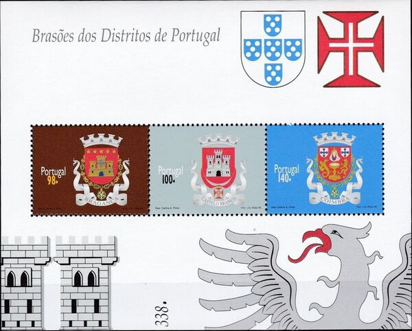 Portugal 1996 Arms of the Districts of Portugal (1st Group) SSb