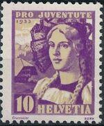 Switzerland 1933 PRO JUVENTUTE - Fr. Gregorie Girard b