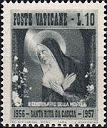 Vatican City 1956 500th Death Anniversary of St. Rita of Cascia a