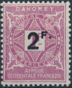 Dahomey 1927 Numerals of 1914 Surcharged a