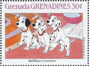 Grenada Grenadines 1988 The Disney Animal Stories in Postage Stamps 3c