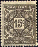 Mauritania 1914 Postage Due Stamps c