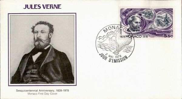 Monaco 1978 Birth Sesquicentennial of Jules Verne FDCp