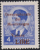 Montenegro 1941 Yugoslavia Stamps Surcharged under Italian Occupation m