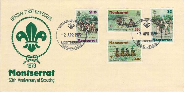 Montserrat 1979 50th Anniversary of Scouting in Montserrat m