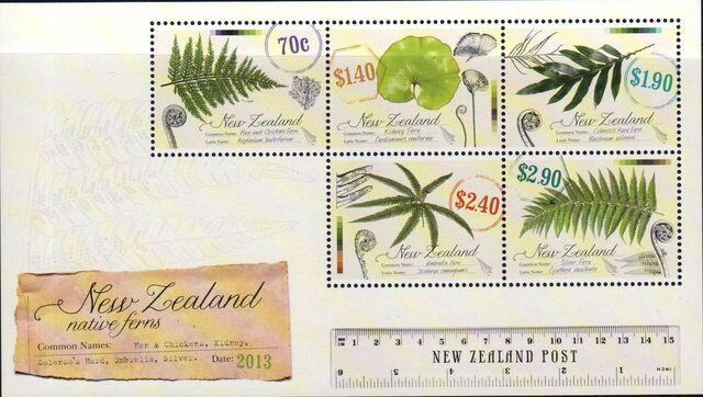 New Zealand 2013 New Zealand Native Ferns f