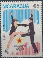 Nicaragua 1984 Winter Olympics - Sarajevo' 84 (Air Post Stamps) b