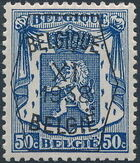 Belgium 1938 Coat of Arms - Precancel (11th Group) f