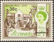 Bermuda 1970 Definitive Issue of 1962 Surcharged n