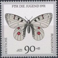 Germany-Unified 1991 Endangered Butterflies f