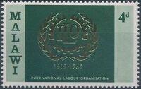 Malawi 1969 50th Anniversary of International Labour Organization a