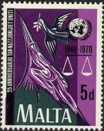 Malta 1970 25th Anniversary of the United Nations b