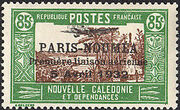 New Caledonia 1933 Definitives of 1928 Overprinted p