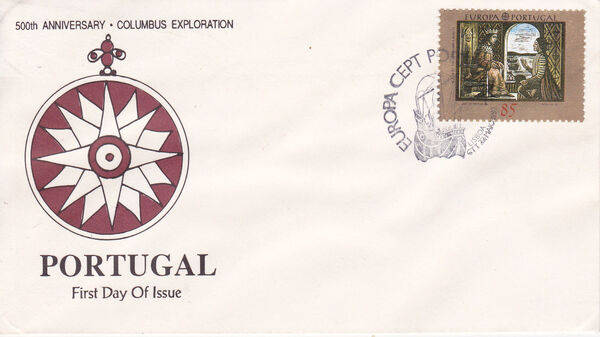 Portugal 1992 EUROPA - 5th Centenary of Discovery of America FDCa3
