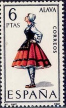 Spain 1967 Regional Costumes Issue a