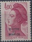 St Pierre et Miquelon 1986 Liberty from France Overprinted ST-PIERRE ET MIQUELON m