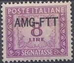 Trieste-Zone A 1950 Postage Due Stamps of Italy 1947-1954 Overprinted b